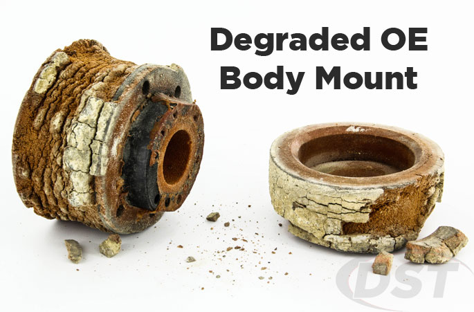 degraded original body mount