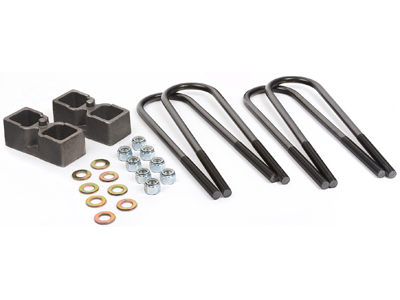 Rear Block Lift Kit - 2 Inch - Top Mount Overload Springs Only