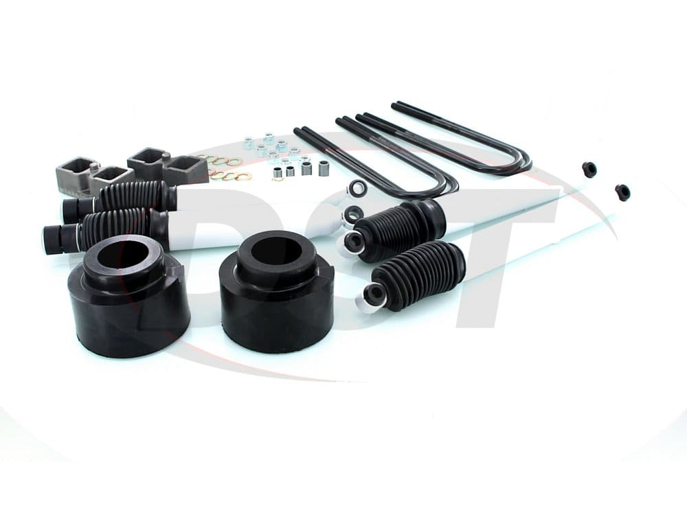 kf09051bk Suspension Lift Kit Combo - 2.5 Inch Front 2 Inch Rear with Shocks