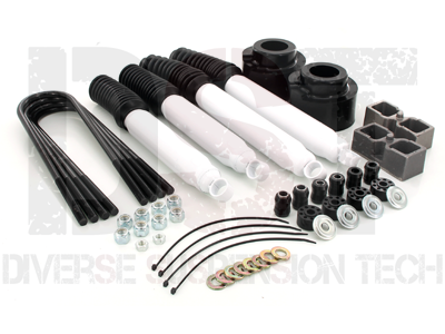 kf09052bk Suspension Lift Kit Combo - 2.5 Inch Front 2 Inch Rear with Shocks