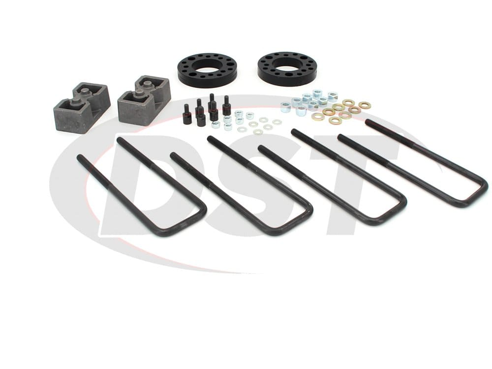 kf09122bk Suspension Lift Kit Combo - 2 Inch Front 1.5 Inch Rear