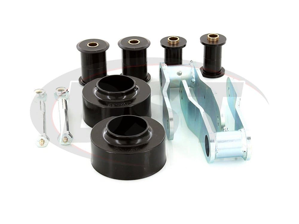 kj09105bk Suspension Lift Kit Combo - 1-3/4 Inch Front and 1 Inch Rear