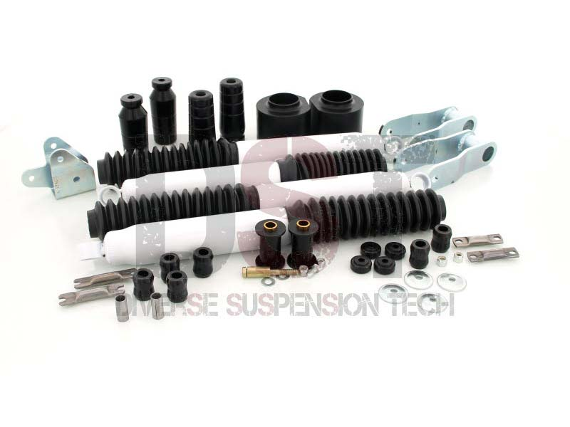 kj09166bk Front and Rear Suspension Lift - 3 Inch - Includes Shocks