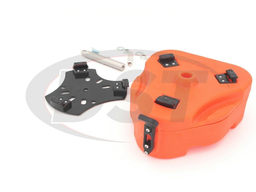 kj71035or Jeep Cam Can Trail Box Kit - Orange
