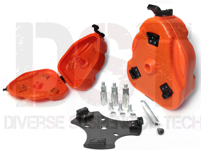 Jeep Wrangler JK 2008 Jeep Cam Can Trail Box Kit - Orange