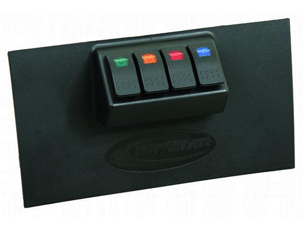 kj71040bk Lower Dash Switch Panel - 4 Rocker Switches - Black