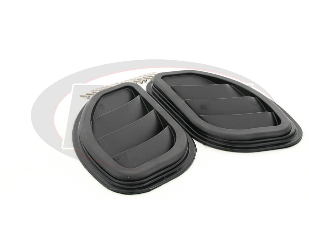 kj71048bk Jeep Wrangler JK Side Hood Vents - Black, Pair