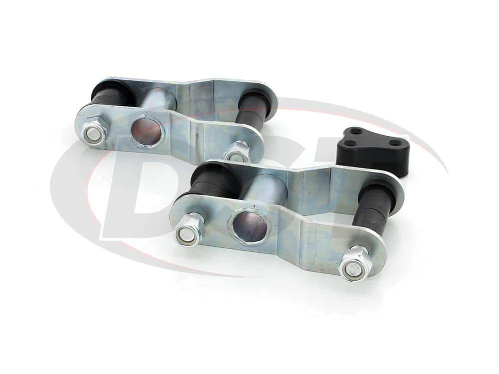 kt61010bk Rear Greasable Shackles - 1-1/4 Inch Lift