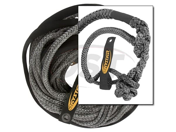 ku10404bk 3/8 in x 80 ft Winch Line with Shackle End