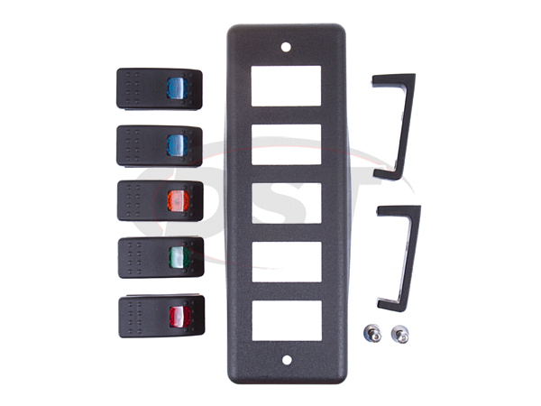 ku72004bk Roll Bar Switch Panel - 5 Rocker Switches